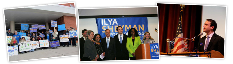 Democrat Ilya Sheyman ran for U.S. Congress in IL-10